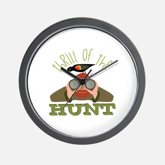 Thrill Of Hunt Wall Clock