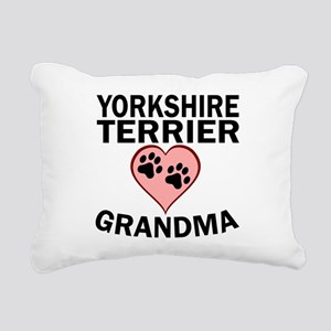 Yorkshire Terrier Grandma Rectangular Canvas Pillo