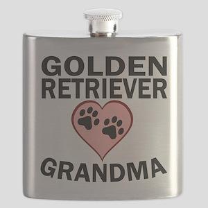 Golden Retriever Grandma Flask