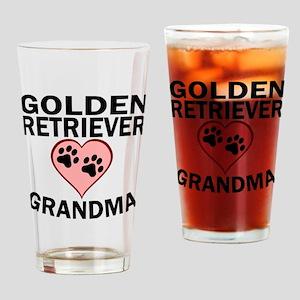 Golden Retriever Grandma Drinking Glass