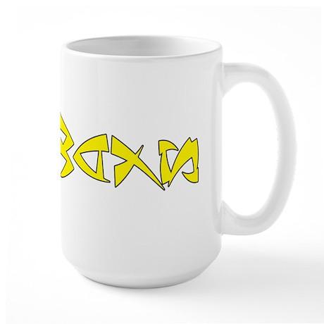 SIDEWAYS - Yellow logo Large Mug