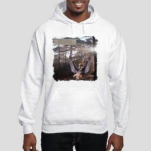 On Wings of Eagles Angelic Hooded Sweatshirt
