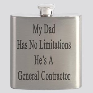 My Dad Has No Limitations He's A General Con Flask