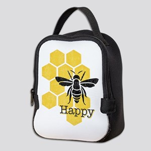 Honeycomb Bee Happy Neoprene Lunch Bag