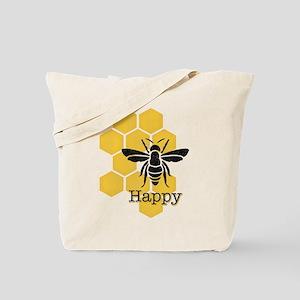 Honeycomb Bee Happy Tote Bag