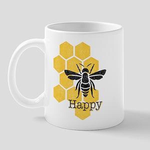 Honeycomb Bee Happy Mug