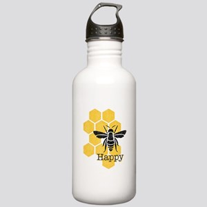 Honeycomb Bee Happy Stainless Water Bottle 1.0L