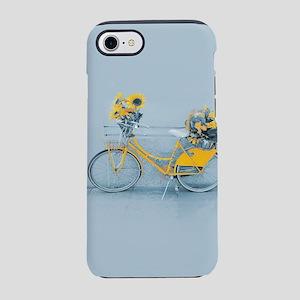 Yellow sunflower vintage bik iPhone 8/7 Tough Case