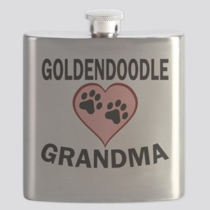 Goldendoodle Grandma Flask