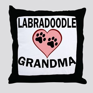 Labradoodle Grandma Throw Pillow