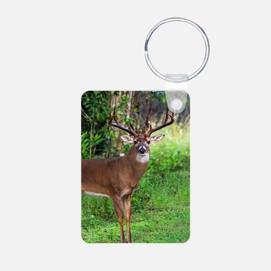 Cool Deer hunting Aluminum Photo Keychain