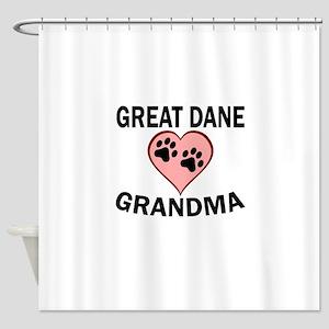 Great Dane Grandma Shower Curtain