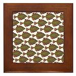 Starry Flounder Pattern Framed Tile