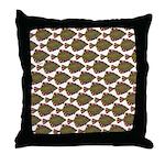 Starry Flounder Pattern Throw Pillow