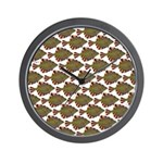 Starry Flounder Pattern Wall Clock