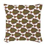 Starry Flounder Pattern Woven Throw Pillow