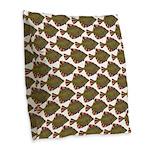 Starry Flounder Pattern Burlap Throw Pillow