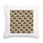 Starry Flounder Pattern Square Canvas Pillow