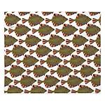 Starry Flounder Pattern King Duvet