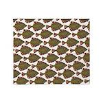Starry Flounder Pattern Throw Blanket