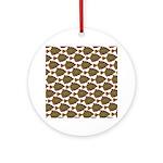 Starry Flounder Pattern Round Ornament