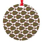 Starry Flounder Pattern Ornament