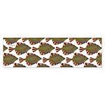 Starry Flounder Pattern Bumper Sticker