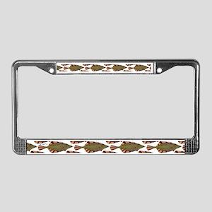 Starry Flounder Pattern License Plate Frame
