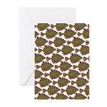 Starry Flounder Pattern Greeting Cards
