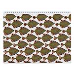 Starry Flounder Pattern Wall Calendar
