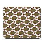 Starry Flounder Pattern Mousepad