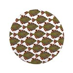 Starry Flounder Pattern Button