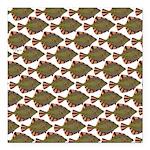 Starry Flounder Pattern Square Car Magnet 3