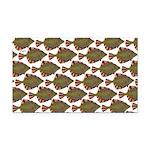Starry Flounder Pattern Rectangle Car Magnet