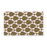 Starry Flounder Pattern Car Magnet 20 x 12