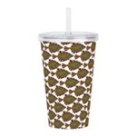 Starry Flounder Pattern Acrylic Double-wall Tumble