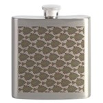 Starry Flounder Pattern Flask