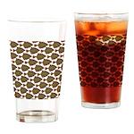 Starry Flounder Pattern Drinking Glass
