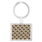 Starry Flounder Pattern Keychains