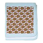 Starry Flounder Pattern baby blanket