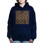 Starry Flounder Pattern Women's Hooded Sweatshirt