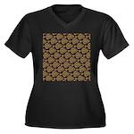 Starry Flounder Pattern Plus Size T-Shirt