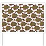 Starry Flounder Pattern Yard Sign