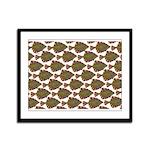 Starry Flounder Pattern Framed Panel Print