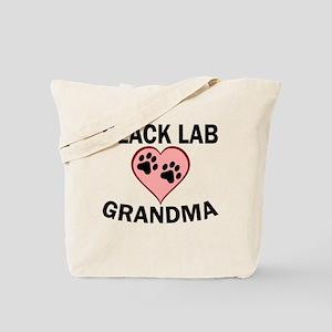 Black Lab Grandma Tote Bag