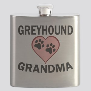 Greyhound Grandma Flask