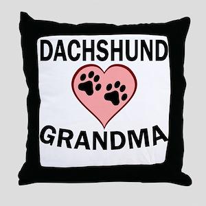 Dachshund Grandma Throw Pillow