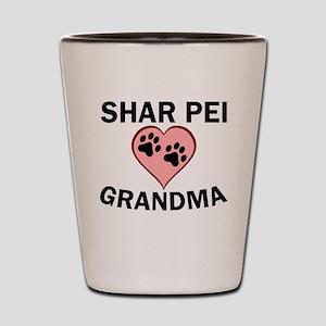 Shar Pei Grandma Shot Glass