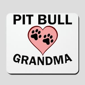 Pit Bull Grandma Mousepad