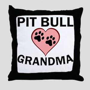 Pit Bull Grandma Throw Pillow